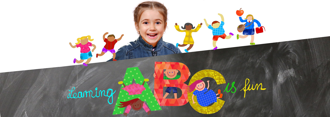 Girls learn ABC's